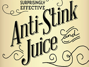 Gritty Purl's Anti-Stink Juice Packaging Label